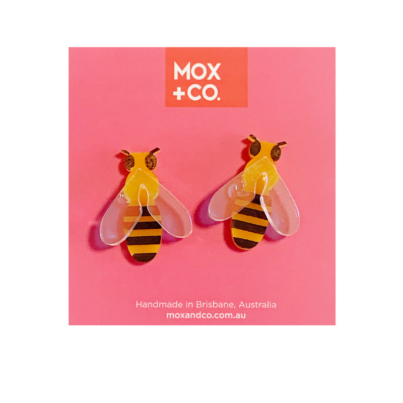 MOX & Co Bee studs