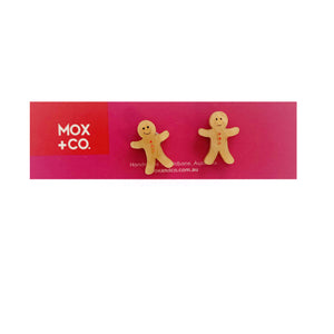MOX & Co Gingerbread Man Studs