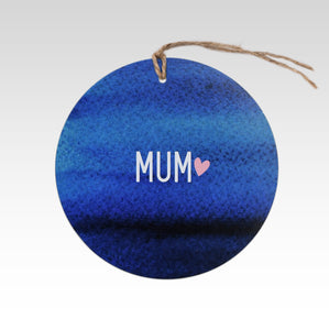Rhicreative Mum With Heart Gift Tag
