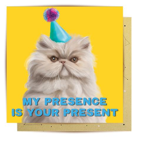 La La Land Greeting Card | My Presence Is Your Present