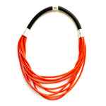 Rubber Strand Necklace | Red