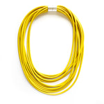 Rubber Strand Necklace | Mustard