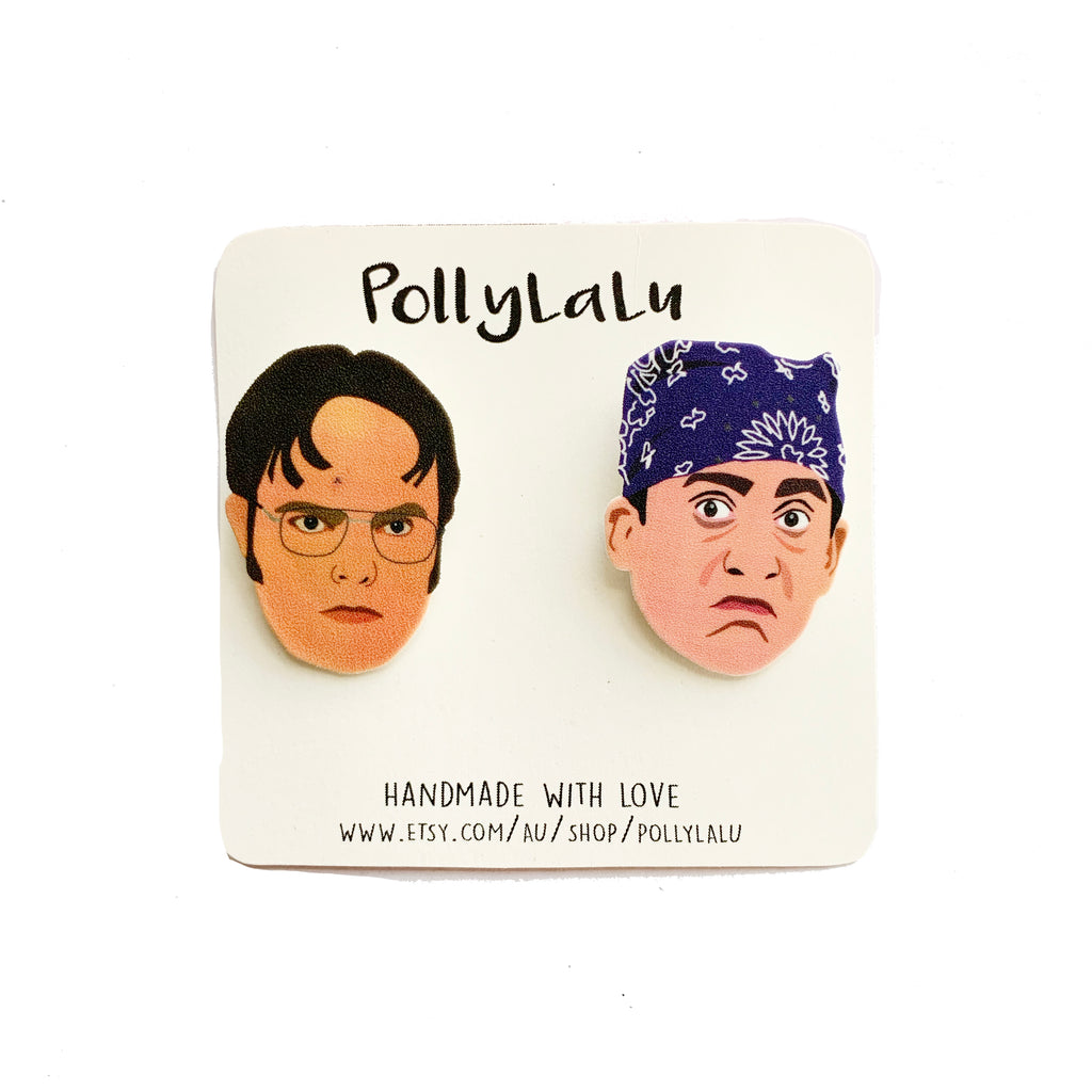 Pollylalu The Office Michael & Dwight Pins