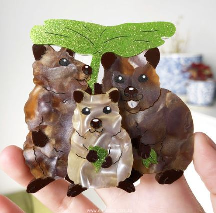 Eliza Rose | Quokka Family Brooch
