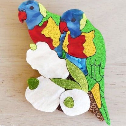 Eliza Rose | Rainbow Lorikeets Brooch