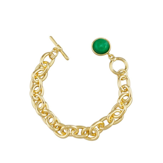 Tiger Tree Gold fob and moss bracelet