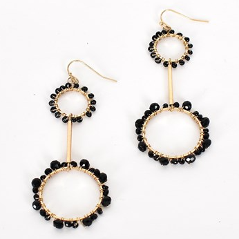 Adorne | black & gold earrings