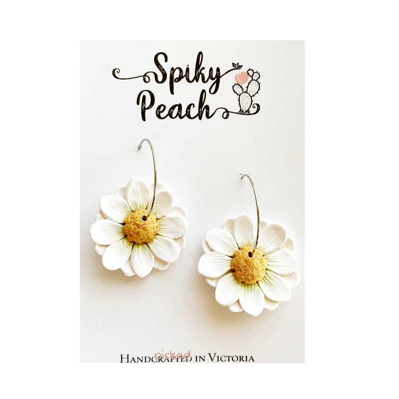 Spiky Peach | White daisy