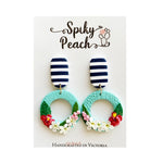 Spiky peach | Flower Earrings