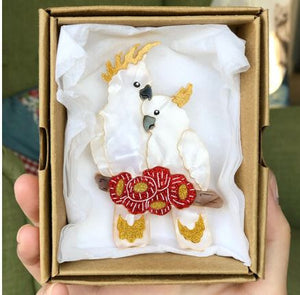 Eliza Rose | Cockatoos Brooch