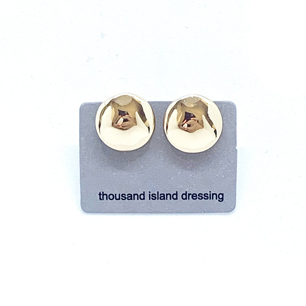 CLIP ON | TID gold round earrings