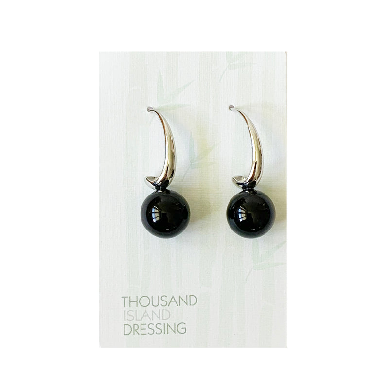 TID ball and silver curve drops | Black