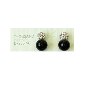 TID ball and diamanté's drops | Black