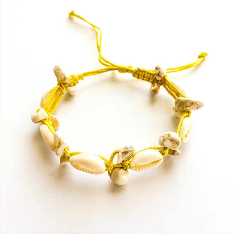 TID BEACH Shell bracelet | yellow