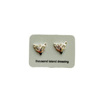 TID mini fox head studs