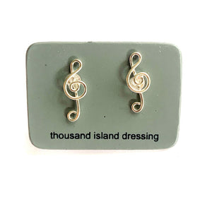TID Musical note studs | Sterling silver