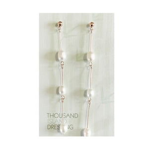 TID Pearl chain drops | rose