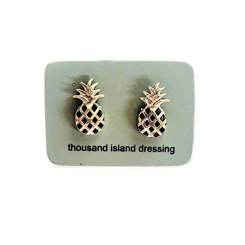 TID pineapple studs | Sterling silver