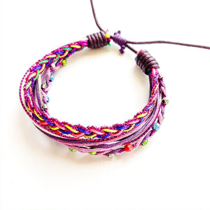 TID BEACH multi bracelet | purple