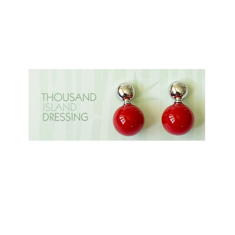 TID ball and silver drops | Red