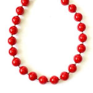 TID red bead necklace