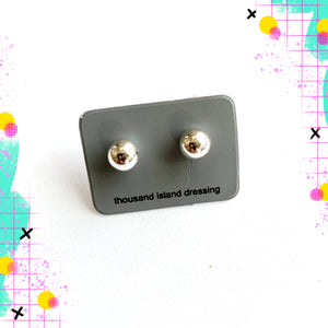 TID sterling silver ball studs - sml