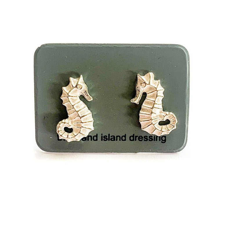 TID Seahorse studs | Sterling silver