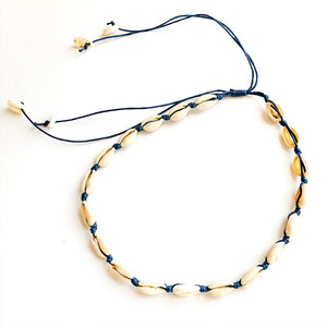 TID BEACH Shell necklace | navy