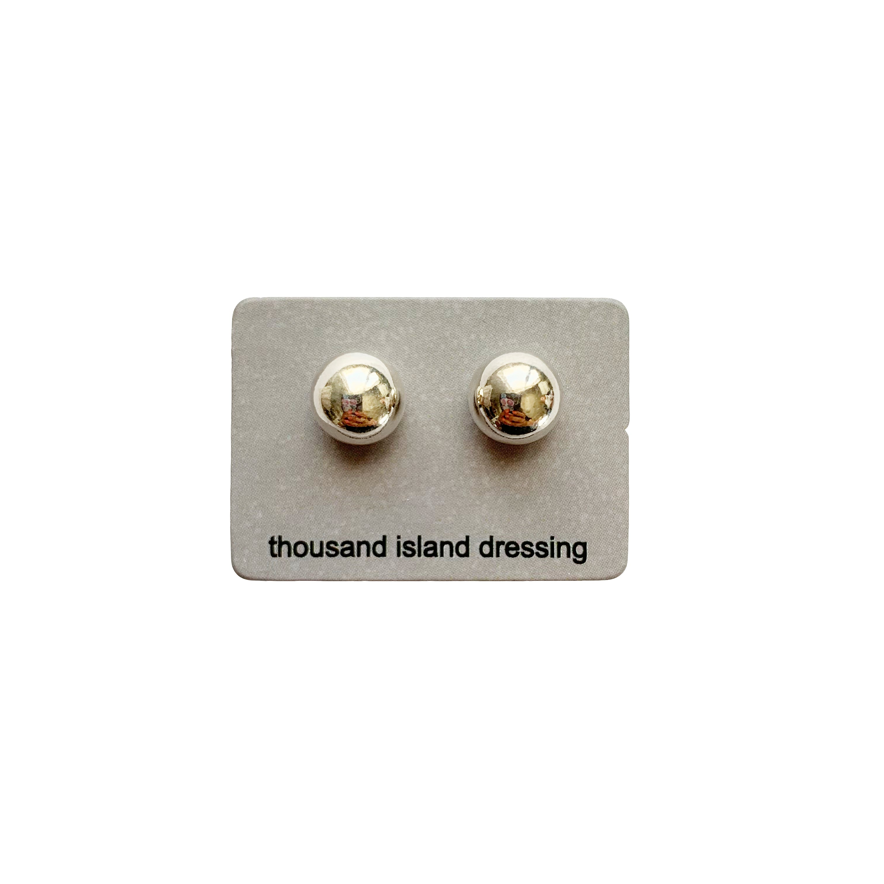 TID sterling silver ball studs - MED