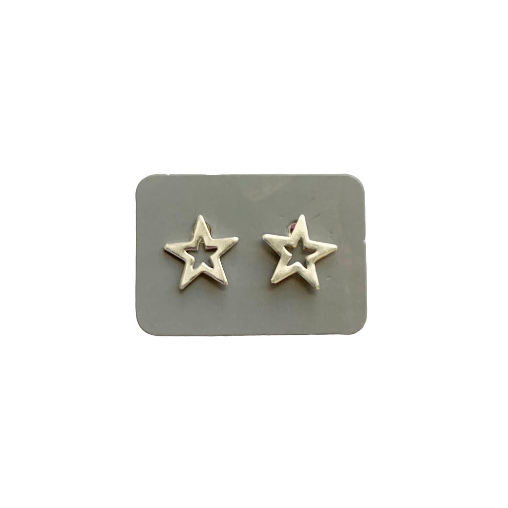 TID mini hollow star studs