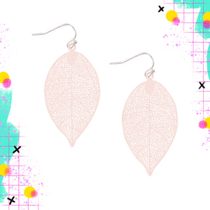 Tiger Tree Metal Leaf dangle | Pink