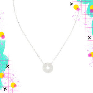 Tiger Tree compass necklace