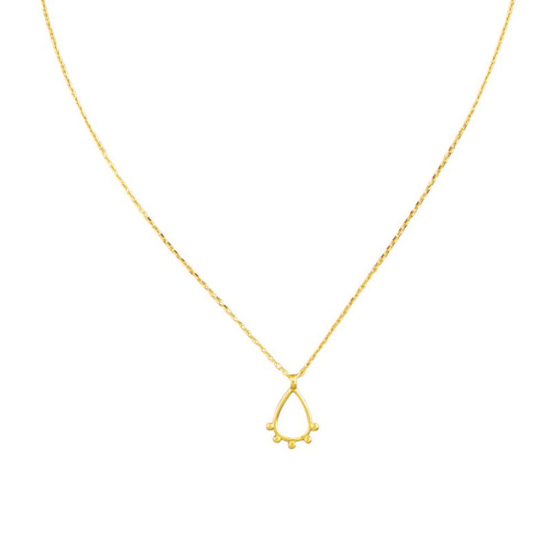 Tiger Tree teardrop necklace | Gold