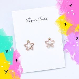Tiger Tree two-tone daisy - rose gold