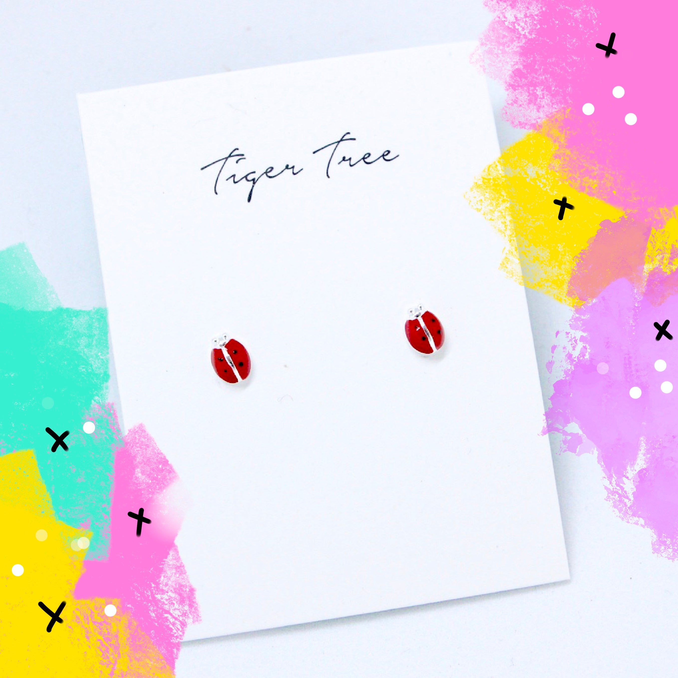 Tiger Tree red ladybirds