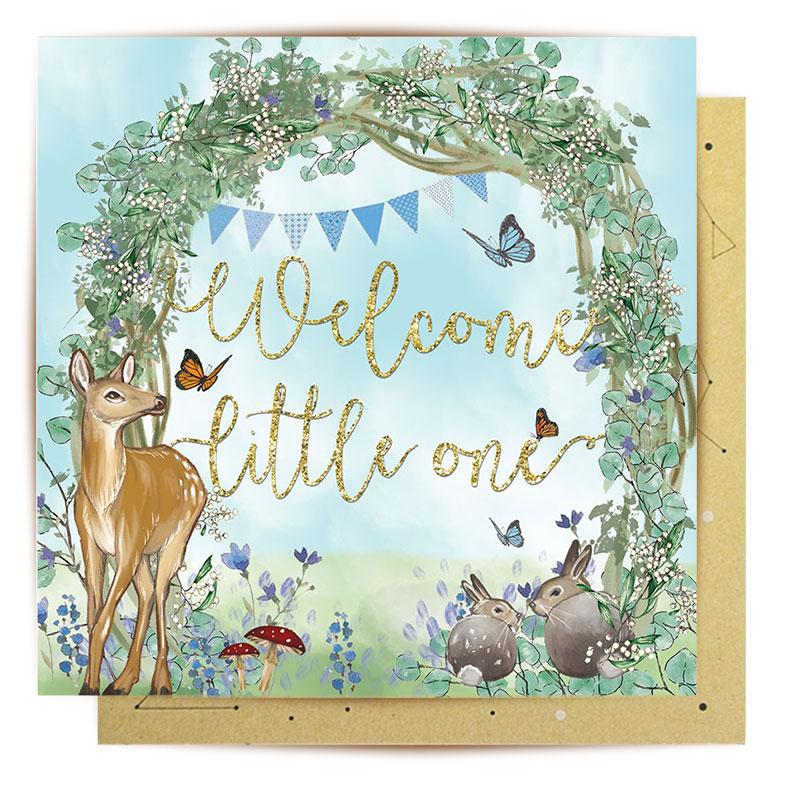 La La Land Greeting Card | Welcome Baby Blue