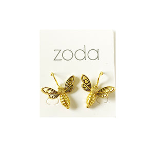 Zoda bee earrings | gold