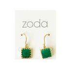 Zoda square drops | green