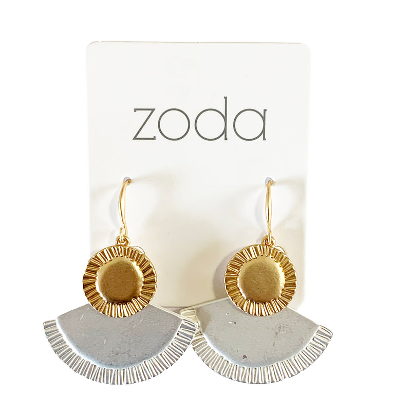 Zoda metal fan drops | silver and gold