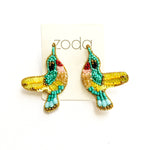 Zoda Beaded hummingbird studs