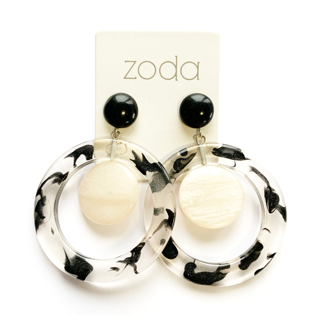 Zoda | Black and White Hoops