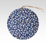 Rhicreative Navy Floral Gift Tag