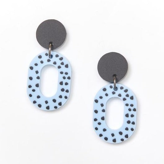 Martha Jean Blue Lucy Earrings