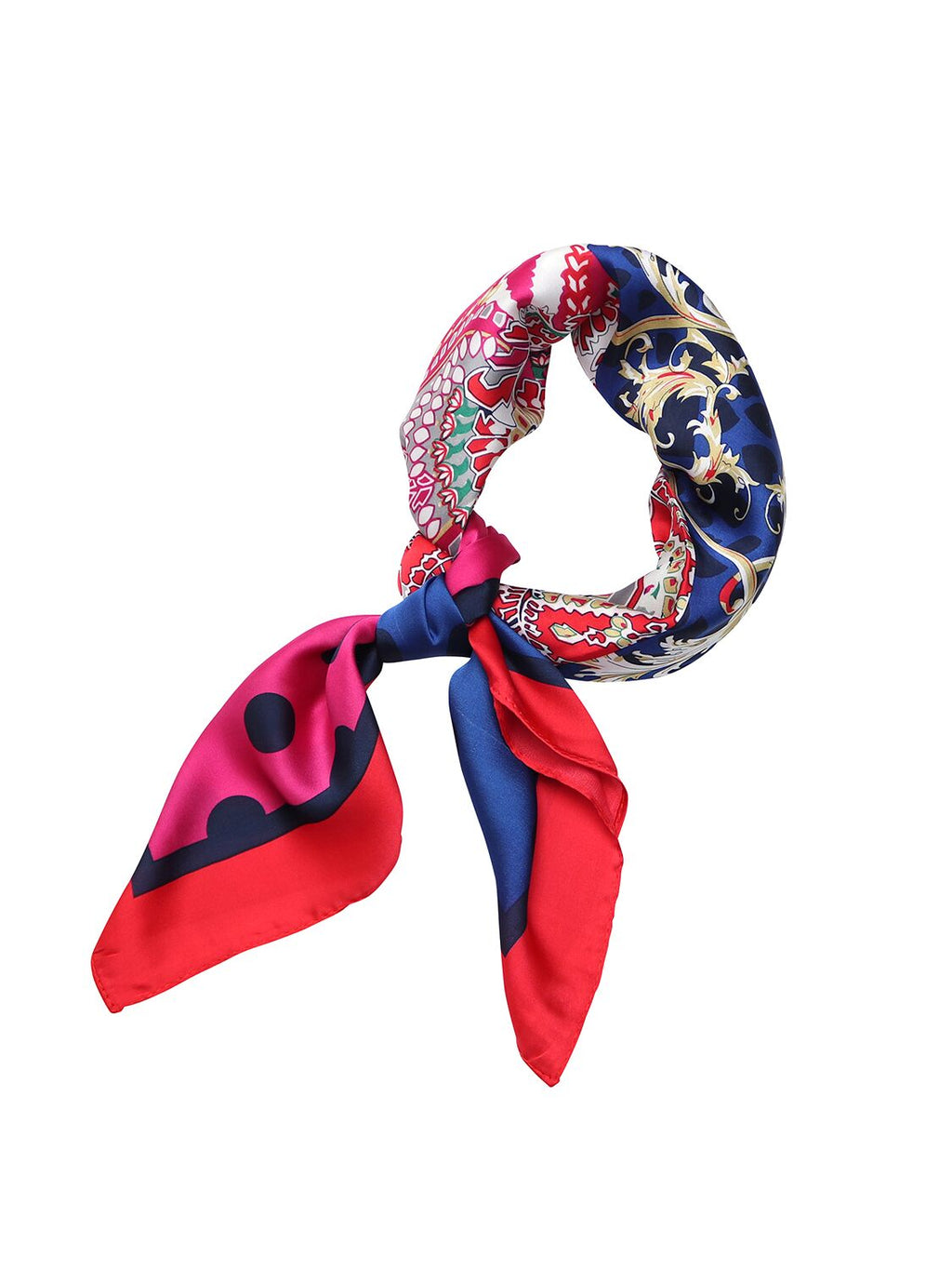 Tiger Tree Multicoloured Scarf | Red and Blue