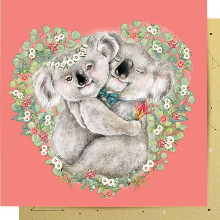 La La Land Greeting Card Koala Hugs