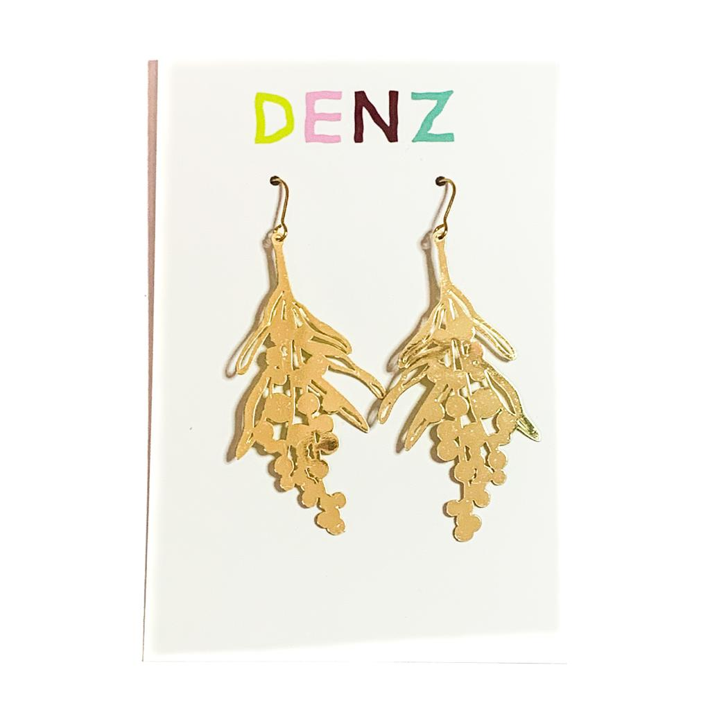DENZ Wattle flower dangles | Gold
