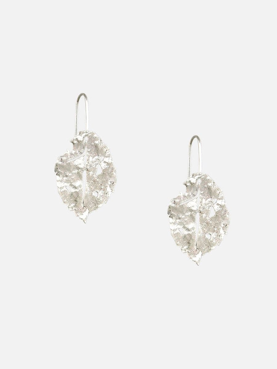 Tiger Tree | Silver Fallen Leaf Drops