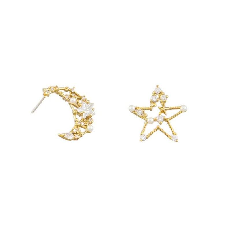 Tiger Tree Celestial Studs | Gold