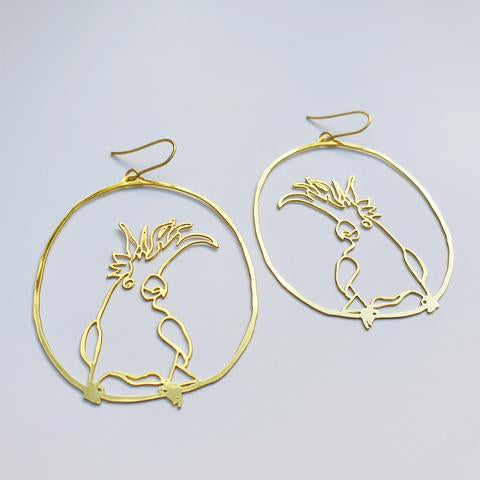 DENZ Cockatoo dangles | Gold