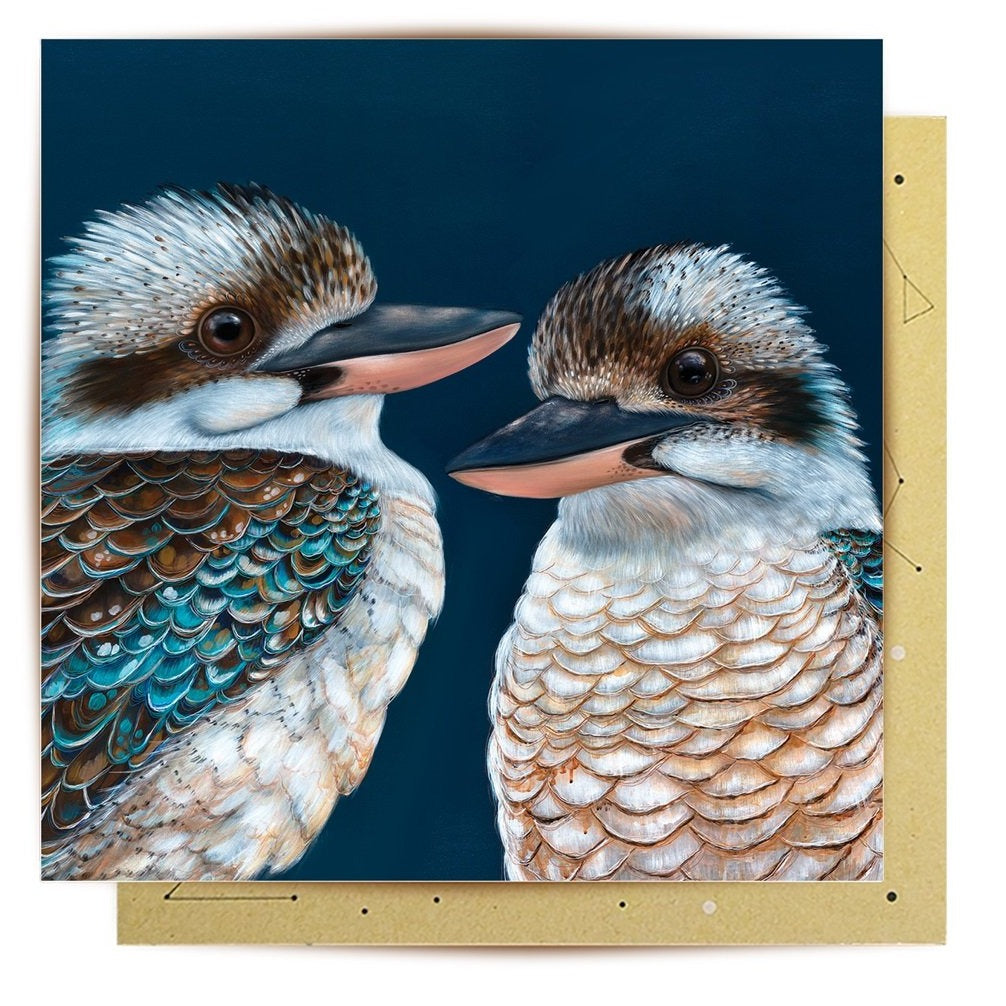 La La Land Greeting Card Ollie Kookaburra